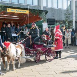 Arrivee du Nikolaus au Marché de Noël de Denkendorf